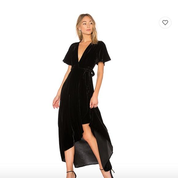 2d8ee83b35fc Privacy Please Velvet Krause Wrap Dress in black. M 5b9aec9baaa5b8f5a264e48a